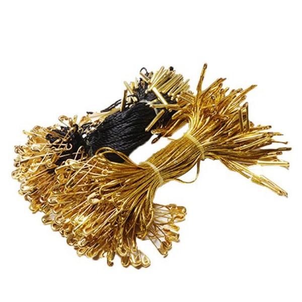 best selling 1000pcs Garment Tags Lock Pins 11cm 1000pcs Nylon Garment Hang Tag String Clothing Lanyard Tag Rope With Pear shaped Safety Pin Garment Tags