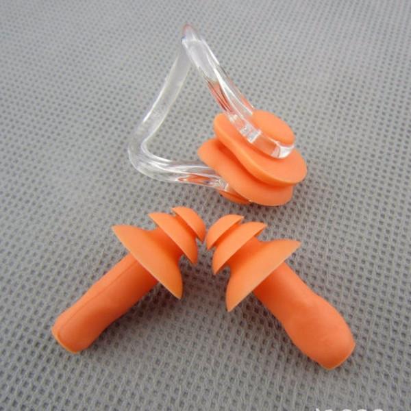 5 set ELUANSHI silicone morbido nasale stecca naso clip impermeabile earplug orecchio spina oreille per la piscina cinese