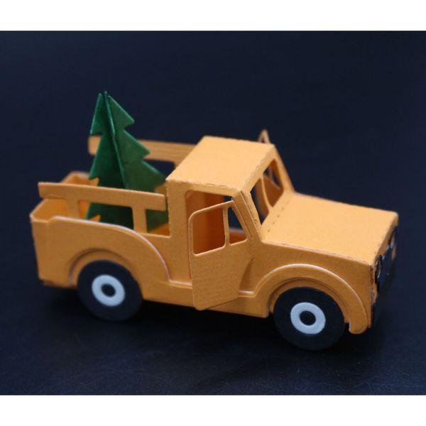 wholesale Making Photo Scrapbook Decor Supplies Car & Christmas Tree Frame Stencil Metal Cutting Dies DIY Paper Card Embossing Dies
