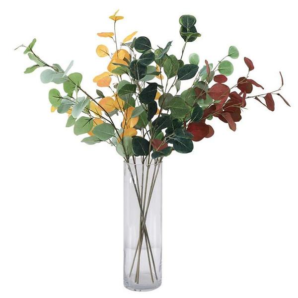 Compre Flores Artificiales Francesa Yogaali Dinero De La Hoja De Otoño Decoraciones Para El Hogar Artificial De Plantas Artificiales Decoración De