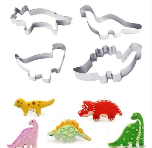 Dinosaur Baking Tools Stainless Steel Cutter Mold Biscuit Cookie Form Pastry Set Kitchen Accessories sugarcraft Tools