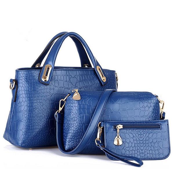 Boa qualidade 3 Pçs / set Mulheres Bolsa de Marca Senhoras Messenger Bags Designer Bolsa de Ombro Bolsa de Couro Bolsos Mujer