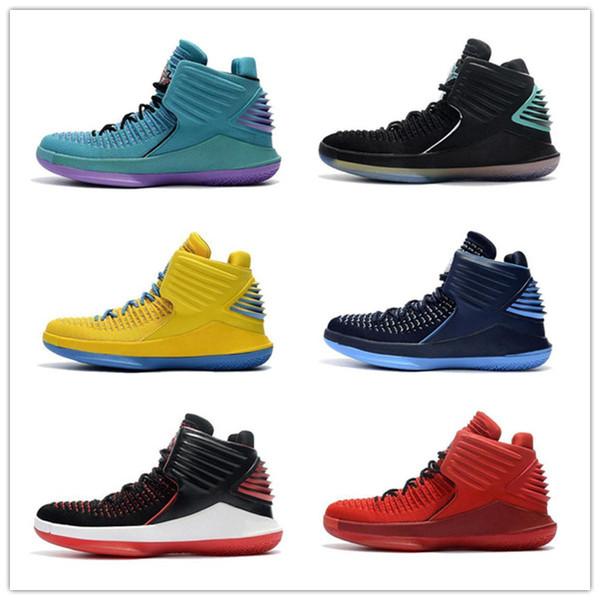 2019 En Kaliteli 32 Basketbol Ayakkabıları Erkek 32 s Yüksek top Tenis Spor Tasarımcısı Eğitmen Ayakkabı Sneakers Açık Atletik Ayakkabı Boyutu 40-45 A17