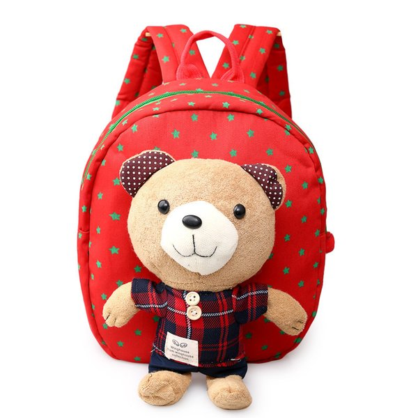 Korean Style Children School Bags Cartoon Bear Pattern Baby Backpack For Kids Kindergarten Bag 1-3 Years Pt841
