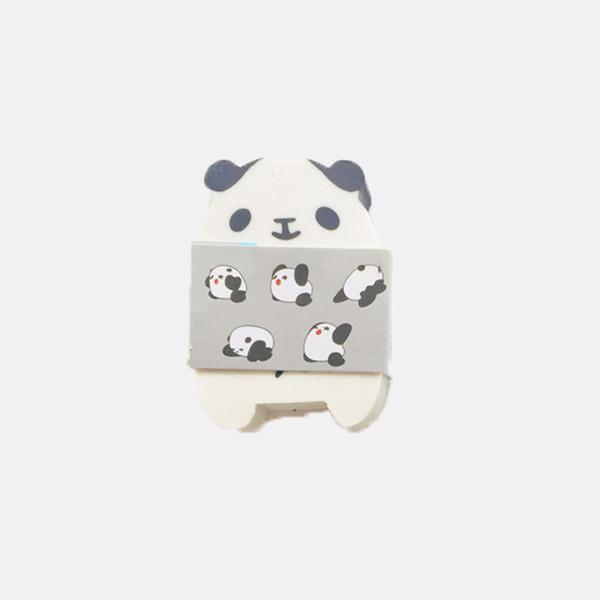 Style Chinois Panda Eraser Cartoon étudiant Stationery gris vert et bleu Joliment Naive cadeaux festival