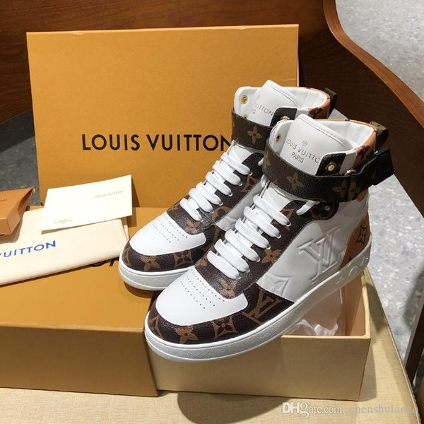 Top quality Luxury Mens Womens leather high top casual sport shoes,New listing personality fashion wild Couple Casual shoes size 35-46 0067