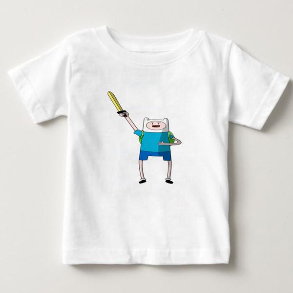 2019 Summer T Shirt Animation Adventure Time T-Shirt Kids Tshirt Boy/girl Funny Cartoon T-shirt 3d Print Tee Shirts Finn