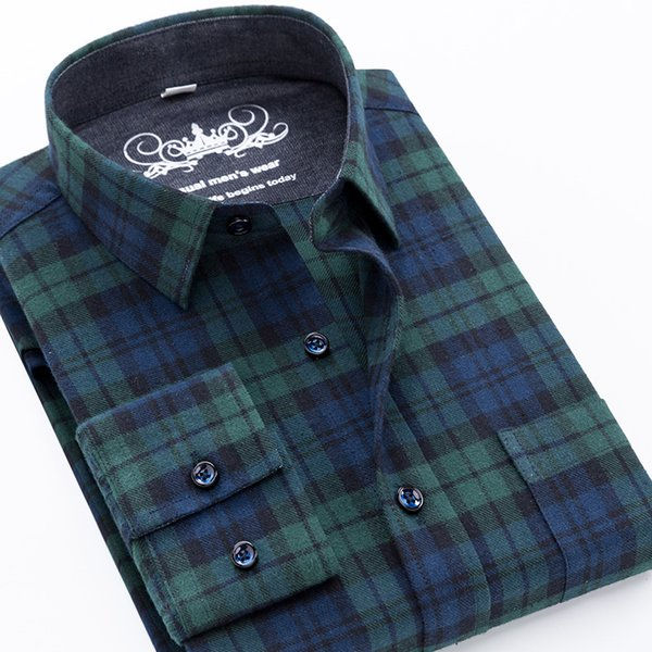 2019 male casual shirt men long sleeve plaid dress shirt checked 100% cotton 5xl autumn mens flannel shirts camisa masculina, White;black