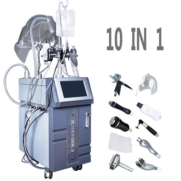 10 In 1 PDT LED Oxygen Jet Peel Machine Skin Rejuvenation Hyperbaric Oxygen Facial Machine O2 Injection Therapy Solve Facial Concerns