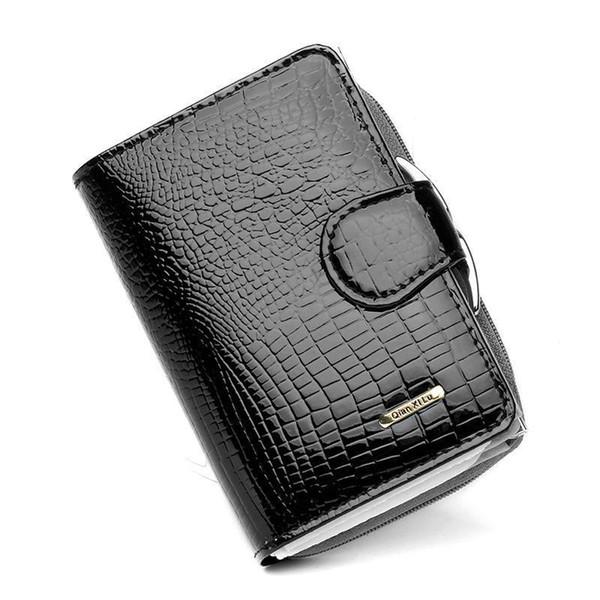 Wholesale- RU&BR Coat Of Paint Womens Wallet New Fashion Purse Women Cowhide Clutch Zipper Credit Cion Pocket Card Holder Genuine Leather