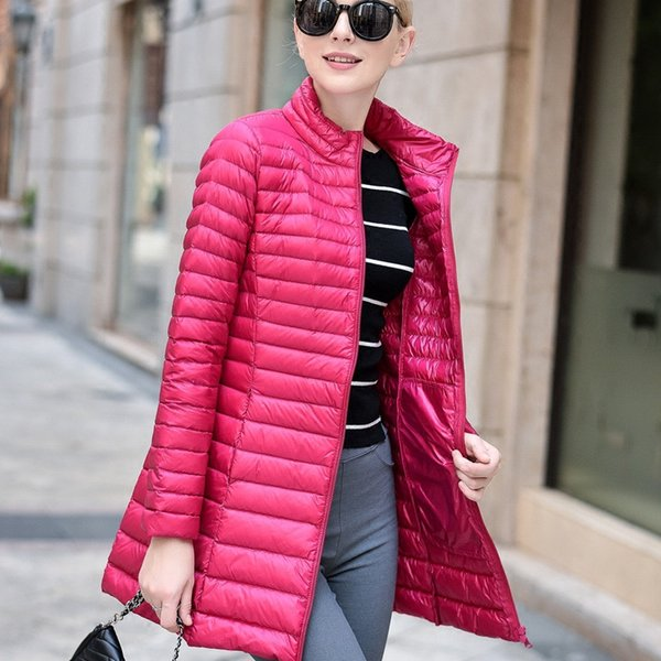 Sanishroly Autumn Winter Women Long Coat Outerwear Ultra Light Down Coat Parka Female White Duck Down Jacket Plus Size 4XL AB399