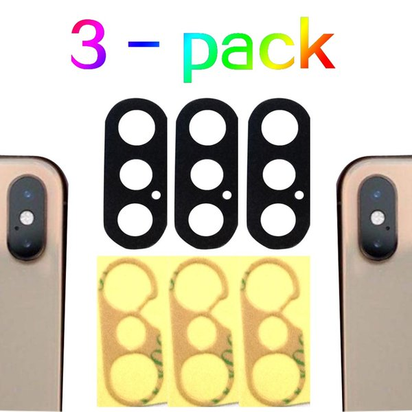 (HWC-10) 3 Packs Back Camera Glass lens Replacement Parts for iphone XS XS Max + Glue US