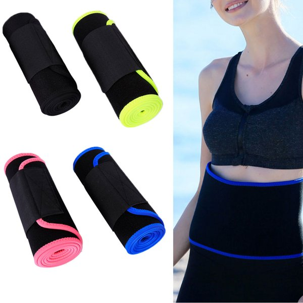 elenxs Hombres Mujeres Cintura elástica Trimmer Cinturón Quemador de grasa del estómago Soporte lumbar ajustable para la espalda baja