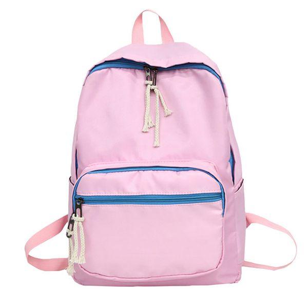 Hot Oxford Cloth Tote Backpack Women Shoulder Bags Couple Student Pure Color School Bag Ladies Backpacks Mochila Feminina