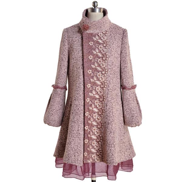 Модные женские покрытые пуговицами шерстяные пальто осень-зима теплое кружевное пальто женская шерстяная куртка халат верхняя одежда Manteau Femme Parka