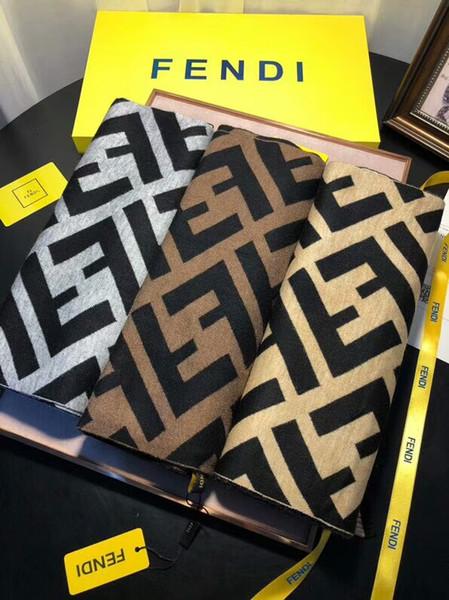 Écharpe designer automne / hiver 100% laine tricotée écharpe de haute qualité écharpes 180 * 30cm écharpe de marque avec des lettres