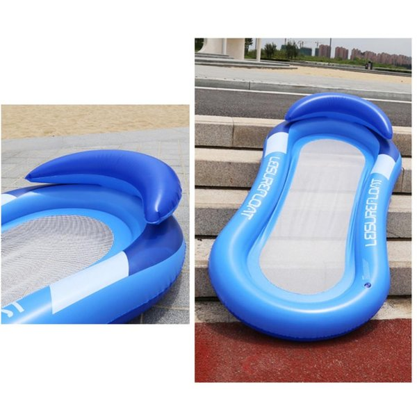 best selling 2019 New Water Mesh Hammock Pool Float Inflatable Rafts Swimming Pool Air Floating Chair Water Toys Inflatable Beach Mat f