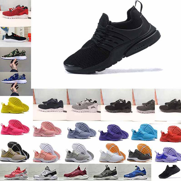 new color 2019 Huarache Running shoes Prestos big Kids Boys girls Men and Women Black White outdoors casual shoes free shipping