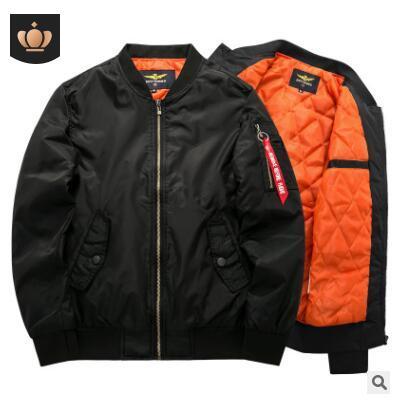 7Xl 8Xl Bomber Jacket 2018 abrigo de moda de manga completa color soild ma1 ai force jacket para hombre ropa