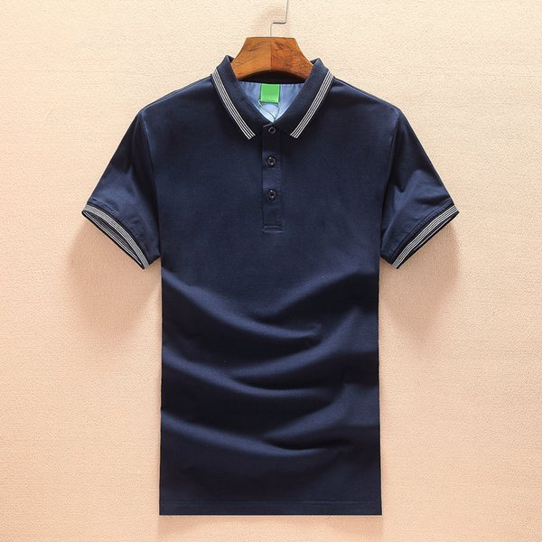 Дизайнер Mens Polos Марка Poloshirt Summer Luxury Tshirt высокого качества с коротким рукавом Блуза вскользь Письмо вышивки M-2XL 2019