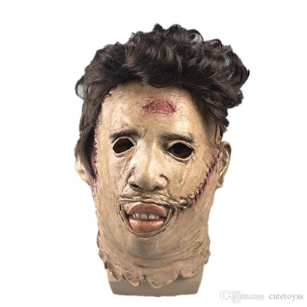 Máscaras niños CALIENTE La matanza de Texas Leatherface asustadiza de Halloween Cosplay del traje del partido Puntales Vídeo de alta calidad Material Juguetes