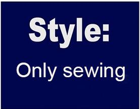 Only sewing