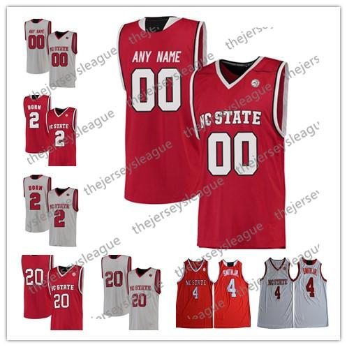 NC State Wolfpack Custom Any Name Any Number White Red Stitched #13 CJ Bryce 24 Devon Daniels NCAA College Basketball Jersey