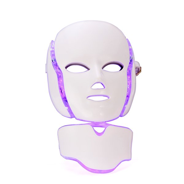 7 Colors Led Facial Mask With Neck Part Home Use Skin Care PDT Photon Light Machine For Acne Removal Whitening Wrinkle Removal