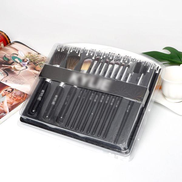 Juego de pinceles de maquillaje de marca 12pcs Kit de cepillo de base Blush Brush de sombra de ojos Polvo profesional Pinceles cosméticos Herramientas