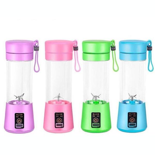 380ML Personal Blender With Travel Cup USB Portable Electric Juicer Blender Rechargeable Juicer Bottle Fruit Vegetable Kitchen Tools