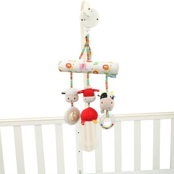 Nuovo vaccino letto in stile giocattolo del bambino del bambino del bambino appeso letto auto cartone animato del bambino funzionale appeso peluche giocattolo educativo comodità