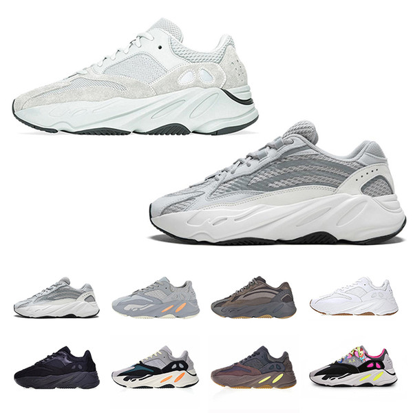 Kanye West 700 Wave Runner Running Shoes For Mens Womens 700s V2 Static Sports Sneakers Mauve Solid Grey Luxury Designer Shoes Size 36-46