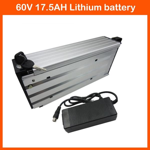 Free customs fee 60V 17.5AH Electric bike Battery 60V e-scooter battery 17.5AH Battery use SANYO 3500mah cells 67.2V 2A charger