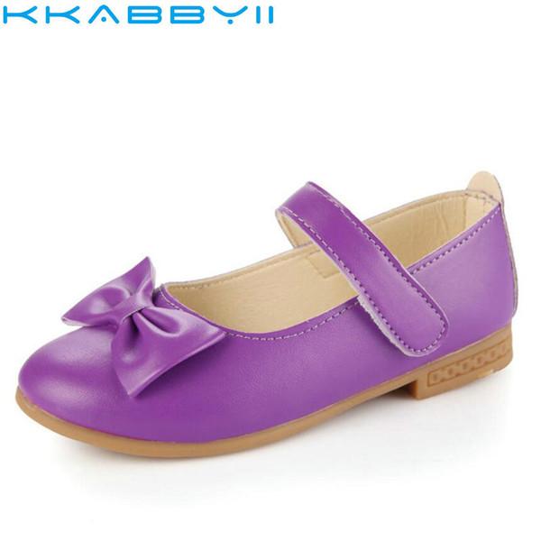 Großhandel Kinderschuhe Mode Kinder Neueste Big Bow Leder Prinzessin Mädchen Schuhe Ballett Tanzschuh Flache Größe 21 36 Von Heathera, $34.74 Auf