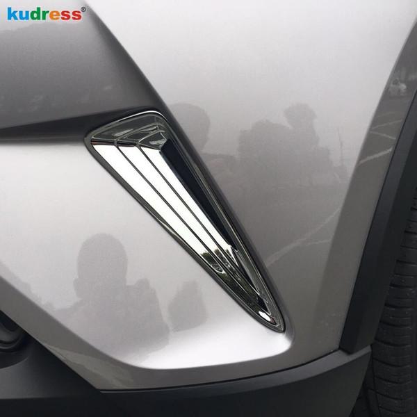 Toyota CHR için C-HR 2016 2017 Dış ABS krom Ön Tampon Yan Grille Kapak Trim Ön Izgara Izgara Sis Lambası Koruyucu aksesuarları