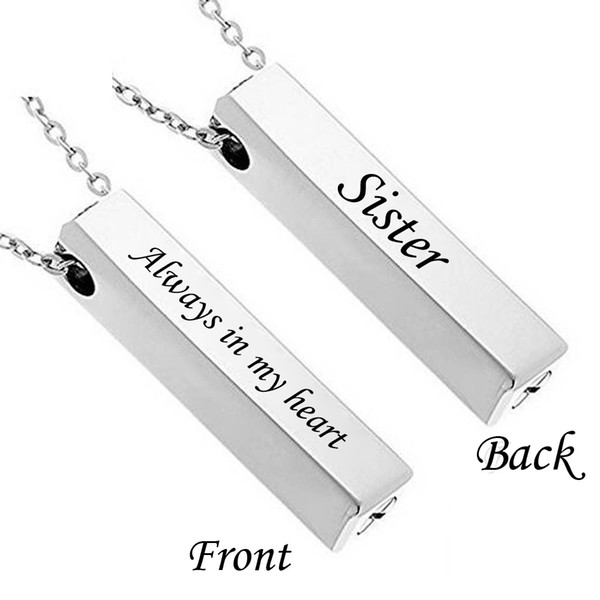 Ashes Keepsake Exquisite Cremation Jewelry Urn Necklace Rectangle waterproof Memorial Ashes Necklace Pendant Keepsake Pendant Bar Urn Pen