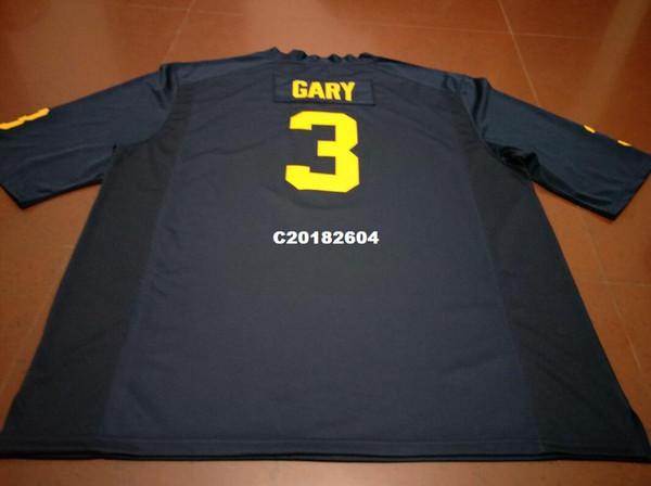 Erkekler # 3 Rashan Gary Michigan Wolverines Mezunlar Koleji Forması S-4XLor özel herhangi bir isim veya numara forması
