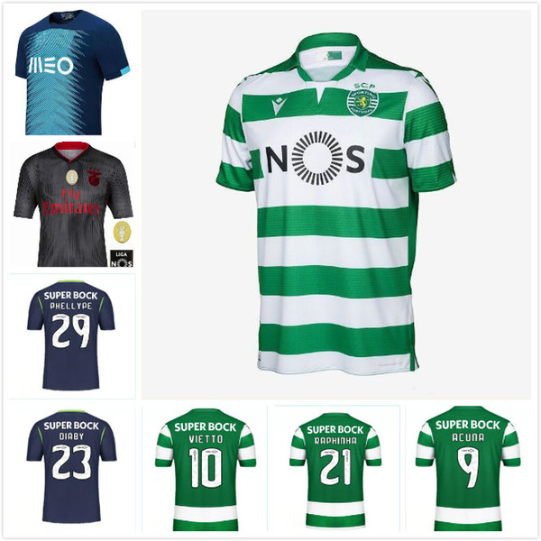 HERREN + KINDER 19 20 Fußball Trikot Sport CP Lissabon PHELLYPE 2019 2020 FERNANDES Fußballtrikot ACUNA WENDEL Trikots