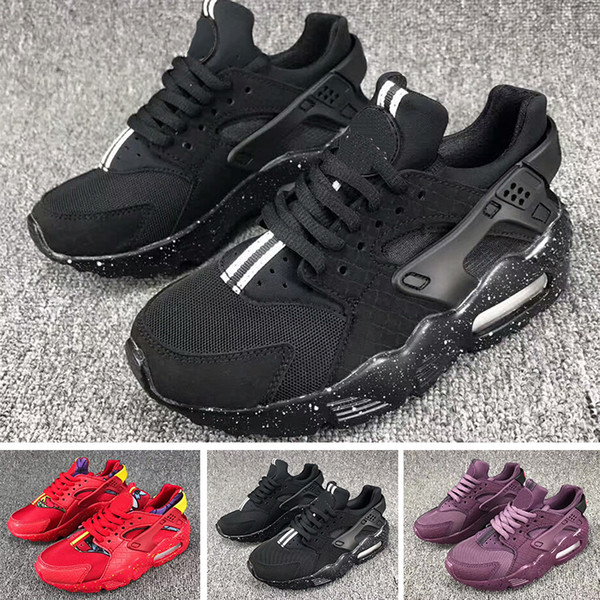 Nike Air Huarache 35Huarache Sneakers Big Enfants Garçons et filles Coloré Noir Blanc Huarache Bleu Chaussures de course Baskets Triple Huaraches Chaussures de sport