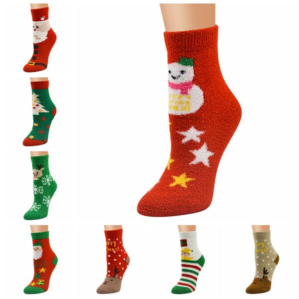 Compre Medias De Navidad Serie Damas Calcetines De Navidad Mujer ...