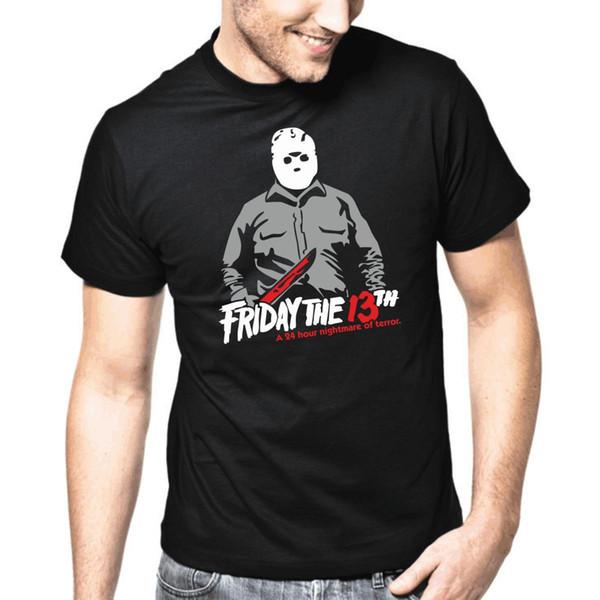 Sexta-feira O 13th Freitag Der 13te Jason Horror Retro S-3XL T-Shirt Dos Homens Casuais Camisa de Manga Curta T
