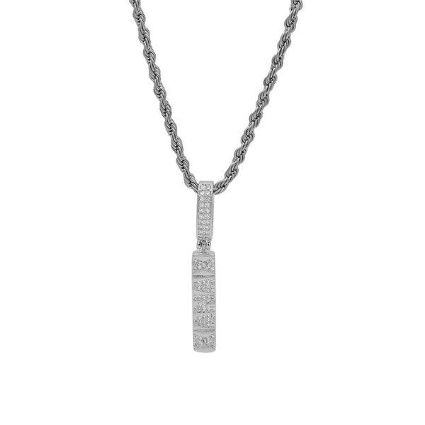 الفضة سلسلة 18INCH الكوبي