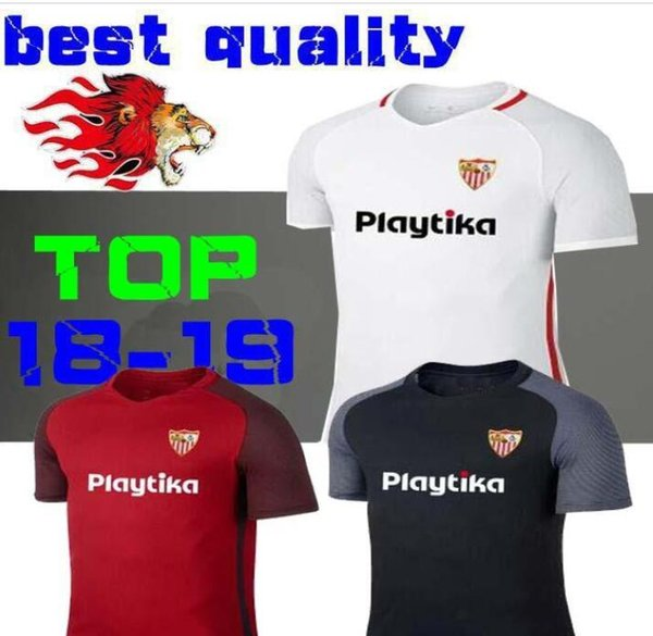 6339ad3a218 18 19 Seville football jerseys 2018 2019 Home AWAY third soccry jersey  Muriel Sarabia Ben Yedder