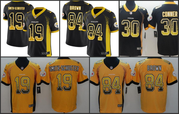 big sale 33fd1 9d860 2019 Pittsburgh Men Steelers Jersey #19 JuJu Smith Schuster 84 Antonio  Brown 30 James Conner Women Youth Drift Fashion Color Rush Limited Jerseys  From ...