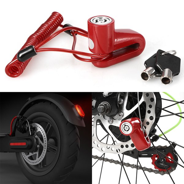 Scooter Disc Brake Lock Anti-theft Scooter Wheels Lock Chain Ring Brake Disc for Electric Bicycle Motorcycle Safety
