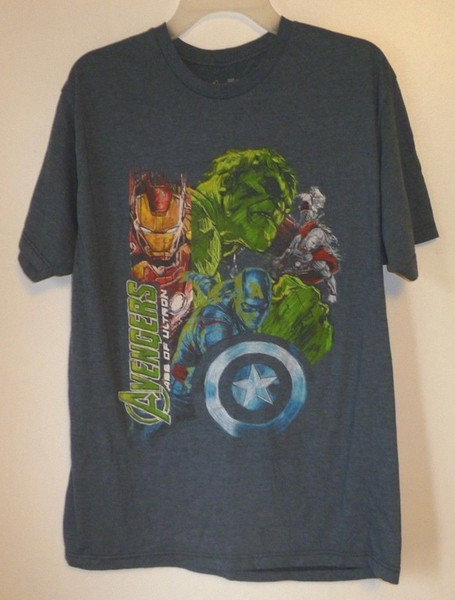 Men's T-Shirt,Avengers,Size L,Blue,Short Sleeve,Graphic Tee,Marvel,Women,50/50 Cool Casual pride t shirt men Unisex New