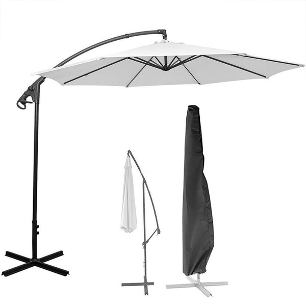 top popular Parasol Umbrella Cover Waterproof Dustproof Cantilever Outdoor Garden Patio Umbrella Shield New Style Outdoor Camping Tents 2021