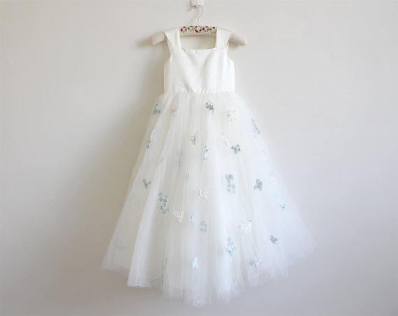 Neue Blumenmädchen Kleid kleines Mädchen Prinzessin Applique Rock Brautjungfer für formale Hochzeit Anlass Wunsch Schärpe Prinzessin Bow Brithday