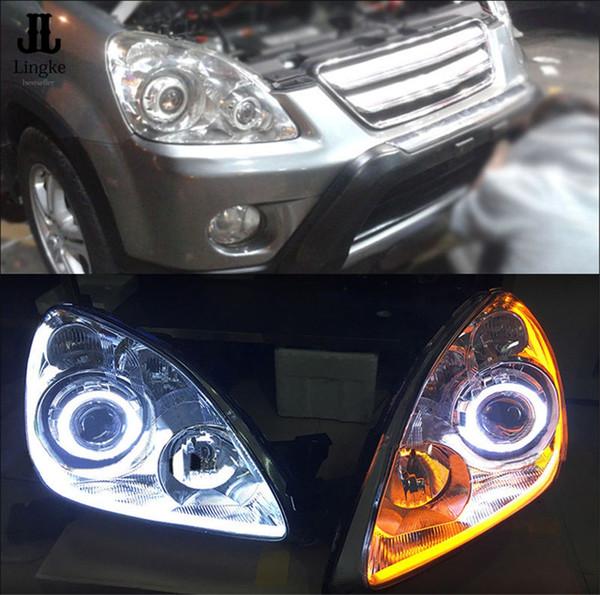Ensemble phare Retrofit DRL Turn Light Lens Pour Honda CRV 2005 2006