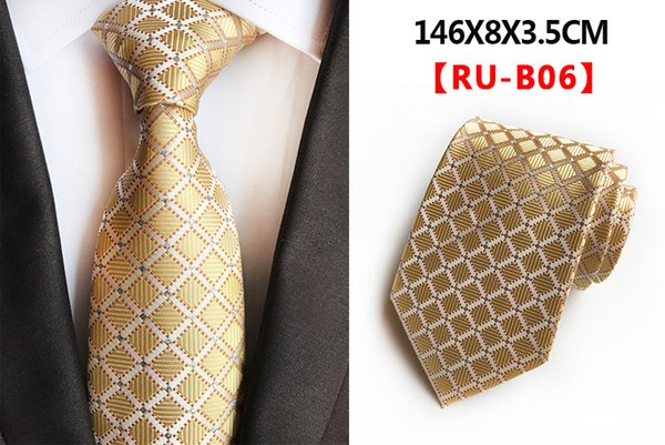 Mens Accessories Plaid Polyester Ties for Men Brand Neckwear Business Skinny Grooms Necktie for Wedding Party Suit Shirt 005